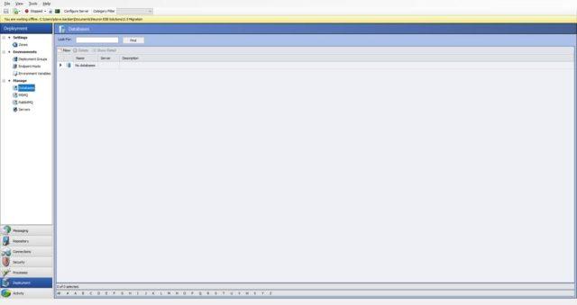 Import ESB Config - Databases
